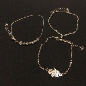 Jewelry - 3 pc NEW Hand of Fatima & Crystal bracelet set
